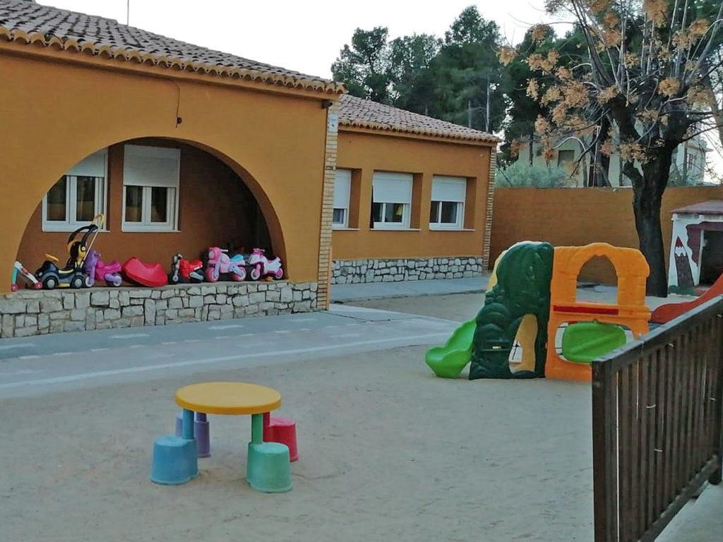 Patio al aire libre con parque